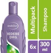 Andrélon iedere dag  - 300 ml - shampoo - 6 st - voordeelverpakking