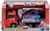 Dickie  Air Pump Crane Truck  - Kraanwagen met auto en accessoires