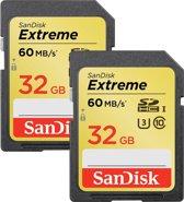 Sandisk Extreme SD kaart 32 GB (Dubbelpak)
