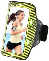 qMust Sport Armband Sony Xperia Z5 Compact met led-lampjes (Yellow/Green)
