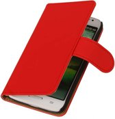 LG Optimus L7 Book Case Effen Rood Hoesje