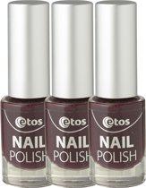 Etos Nailpolish 024 - Cherry - Paars - 3 stuks - Nagellak