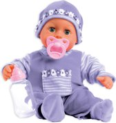 Bayer Pop My First Words Baby met 24 Geluiden - 38 cm - Paars