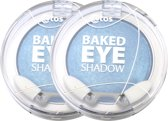 Etos Baked Eyeshadow mono 003 - Blauw - 2 stuks - Oogschaduw