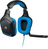 Logitech G430 Wired 7.1 Virtueel Surround Gaming Headset - Zwart/Blauw (PC/PS4)