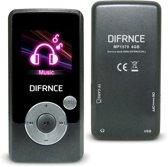 Difrnce MP1570 - MP4 speler - 4GB - Zwart