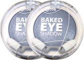 Etos Baked Eyeshadow mono 006 - Grijs - 2 stuks - Oogschaduw