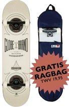 Skateboard Globe Banger wit 8.0