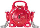 Imaginarium MY MUSIC PLAYER DUO RED - CD-speler en Karaokeset met 2 Microfoons - Rood