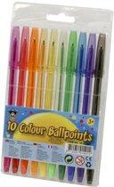 Clown Balpennen in Etui - 10 stuks