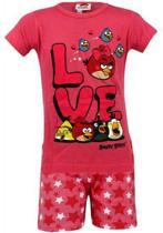 Angry Birds Love Shortama Roze -Maat: 104/110