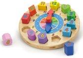 Puzzelklok met Geometrische Vormen