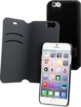 muvit iPhone 6 Magic Folio Wallet Case Stand met 2 kaartsloten - Zwart