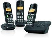 Gigaset AL220A - Trio DECT telefoon met antwoordapparaat - Zwart