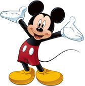Stickervel Mickey Mouse muur: 2 vel 46x101 cm (RMK1508GM)