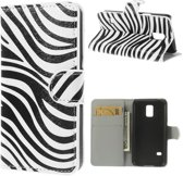 Wallet Stand Case Samsung Galaxy S5 Mini Zebra