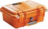 Peli Protector 1400 oranje met schuimstof