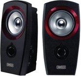 2.0 Speaker Set USB. Black/Red. USB Powered