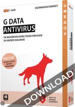 G Data Antivirus 2015 ESD 1 pc 3 Jaar NL