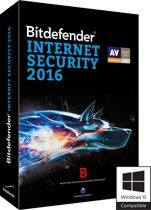 Bitdefender Internet Security 2016 - Nederlands / Frans / 1 Jaar / 3 Apparaten