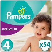 Pampers Active Fit - Maat 4 Jumbo Pack 54 luiers