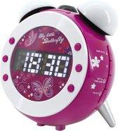 Soundmaster UR140LI (lila) Uhrenradio mit Projektion und dimmbaren Aufwachlicht (UR140LI)
