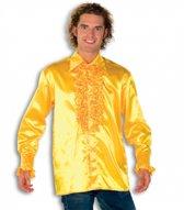 Rouche overhemd voor heren geel 48 (s)