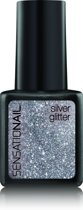 Sensationail Gel Polish - Silver Glitter - Zilver - Gelnagellak