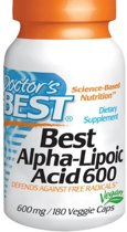 Doctors Best Voedingssupplementen Pure Alfa Lipon Zuur, 600 mg (180 Veggie Caps) - Doctor's Best