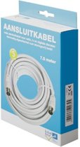 Technetix - Coax Kabel - wit - 7.5 meter