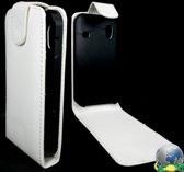 Samsung S5830 Galaxy Ace Leren Flip Hoesje Business-Class White