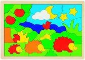 Goki Massieve puzzel de familie Egel