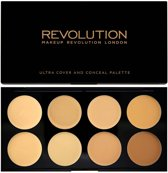 Makeup Revolution Ultra Cover & Concealer Palette - Light/Medium