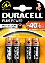 Duracell Plus Power AA Alkaline Batterijen 4x Pak