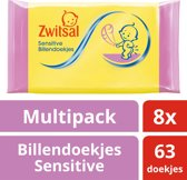 Zwitsal Billendoek Sensitive Lotion 8x63st