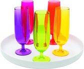 Zak!Designs Stacky Platter Champagneglas - 16 cl - Assorti