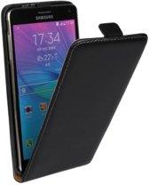 Mesh - Samsung Galaxy Note 4 - Flip Case Hoesje Business Zwart