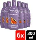 Andrélon Keratine Repair - 300 ml - Shampoo - 6 stuks - Voordeelverpakking