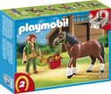 Playmobil Shire met Paardenbox - 5108