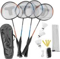 Badminton set & net 4spelers