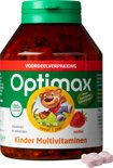 Optimax Kinder Multi aardbei - 180 Kauwbeertjes - Multivitamine