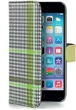 Celly - Pied de Poule wallet case - iPhone 6 - groen