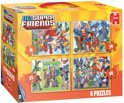 Superfriends 4 in 1 - Kinderpuzzel - 4 Puzzels