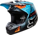 2016 Fox Racing V2 Vicious Crosshelm Aqua Large