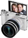 Samsung NX300M + 18-55 OIS i-functie + SEF-8A - Systeemcamera - Wit