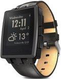 Pebble Steel smartwatch - Giftbox - Mat zwart met stalen en leren band