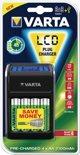 Varta LCD batterijlader met 4x 2100 mAh AA-batterijen