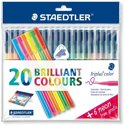 Triplus Color Kleurstift - Box 20 St + 6 Néon Gratis