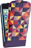 Mobilize Ultra Slim Flip Case Apple iPhone 5C Viola Triangle