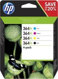 HP 364XL 4-pack High Yield Black/Cyan/Magenta/Yellow Original Ink Cartridges